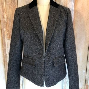 American Eagle Gray Crop Tweed Blazer sz L EUC!